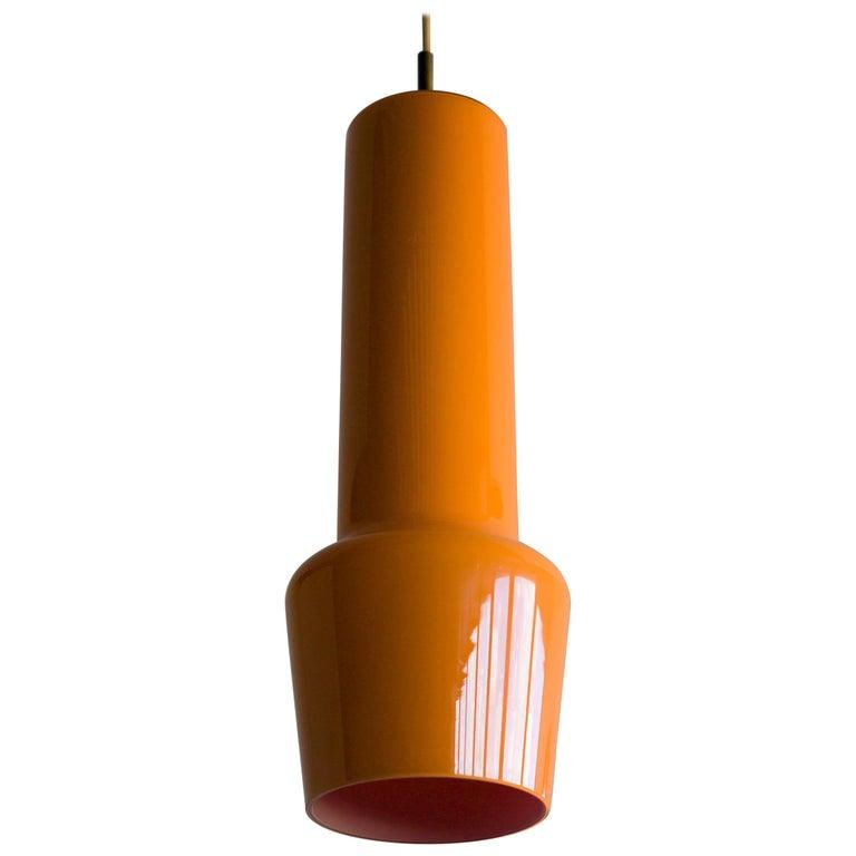 Large Venini Glass Pendant For Sale