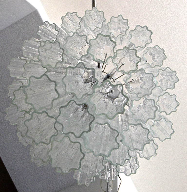 Large Venini Murano Tronchi Glass Tube Chandelier For Sale 2