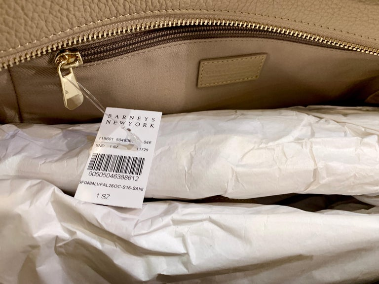 Large Versace Collection Neutral Textured Leather Tote Bag Purse Retail 1765.00 For Sale 6
