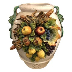 Large Vessel Encrusted with Fruit and Vegetables