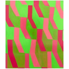 Large Vibrant Abstract Oil Painting, Kate Sable, 2011
