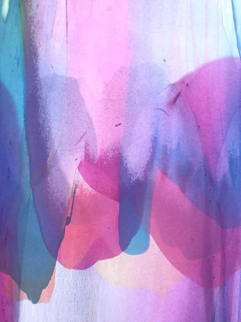 American Large Vibrant Washington Color School Painting, Copaken, 1982 For Sale
