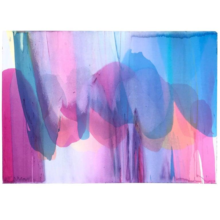 Large Vibrant Washington Color School Painting, Copaken, 1982 For Sale