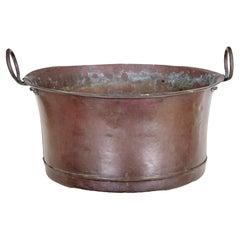 Large Victorian 19th Century Copper Vessel Bin