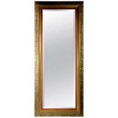 Large Victorian Aesthetic Movement Gilt Framed Pier Mirror