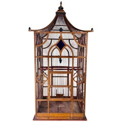 Large Victorian Birdcage, Faux Painted