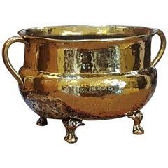 Large Victorian Brass Log Bucket