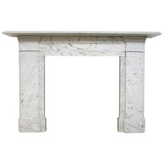 Large Victorian Carrara Marble Fireplace Surround