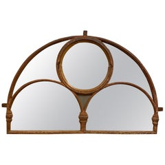 Large Victorian Cast Iron Arched Window Mirror from The Old Brighton Aquarium
