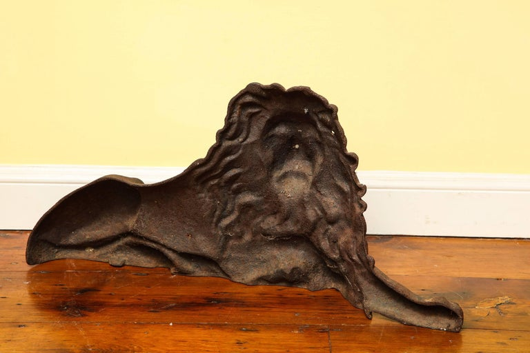 Large Victorian Cast Iron  Recumbent Lion English, circa 1850 In Stock For Sale 2