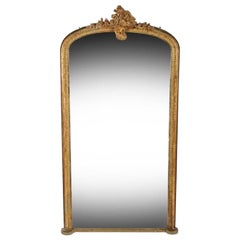 Large Victorian Gilded Pier Glass, 19th Century