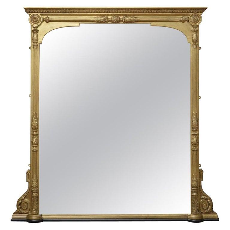 Large Victorian Giltwood Wall Mirror at 1stdibs