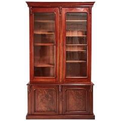 Large Victorian Mahogany Bookcase