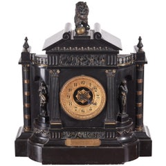 Large Victorian Marble Architectural Mantle Clock