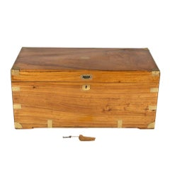 Large Victorian Military Campaign Camphor Wood Trunk