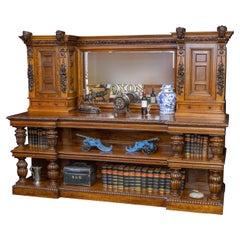 Large Victorian Oak Bar Buffet