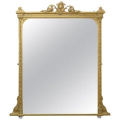 Large Victorian Overmantel Mirror