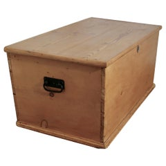 Large Victorian Pine Blanket Box, Coffee Table or Shoe Tidy