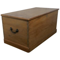 Large Victorian Pine Blanket Box