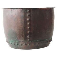 Large Victorian Riveted Copper Boiler, England 1880s