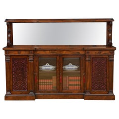 Large Victorian Rosewood Sideboard / Bookcase