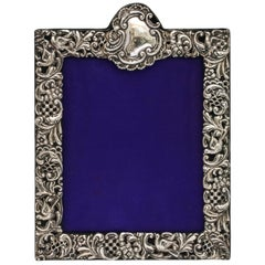 Large Victorian Sterling Silver Picture Frame