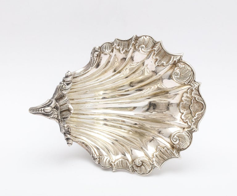 Large Victorian Sterling Silver Turtle with Seashell Salt Cellar, J.E. Caldwell For Sale 7
