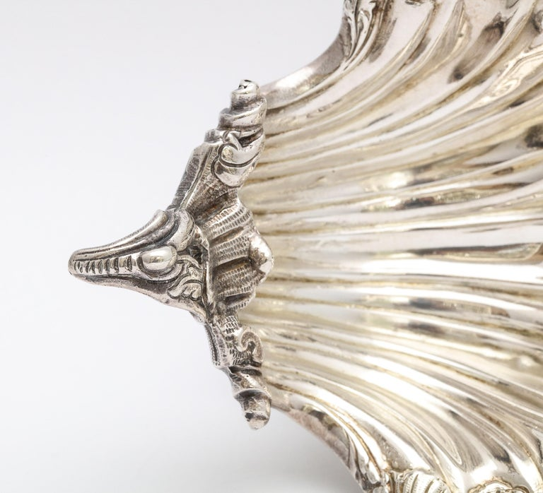 Large Victorian Sterling Silver Turtle with Seashell Salt Cellar, J.E. Caldwell For Sale 10