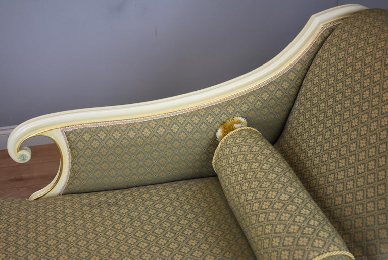20th Century Large Victorian Style Chaise For Sale