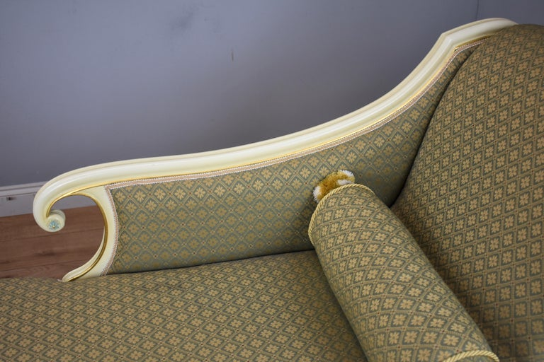 Wood Large Victorian Style Chaise For Sale