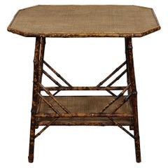 Large Victorian Tiger Bamboo Table