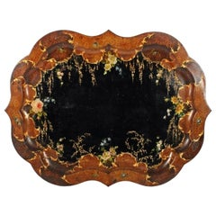 Large Victorian Toleware Tray, 19th Century