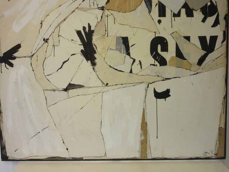 Mid-Century Modern Large Vintage 1960s Contemporary Painting by Female Artist Jeri Summers For Sale