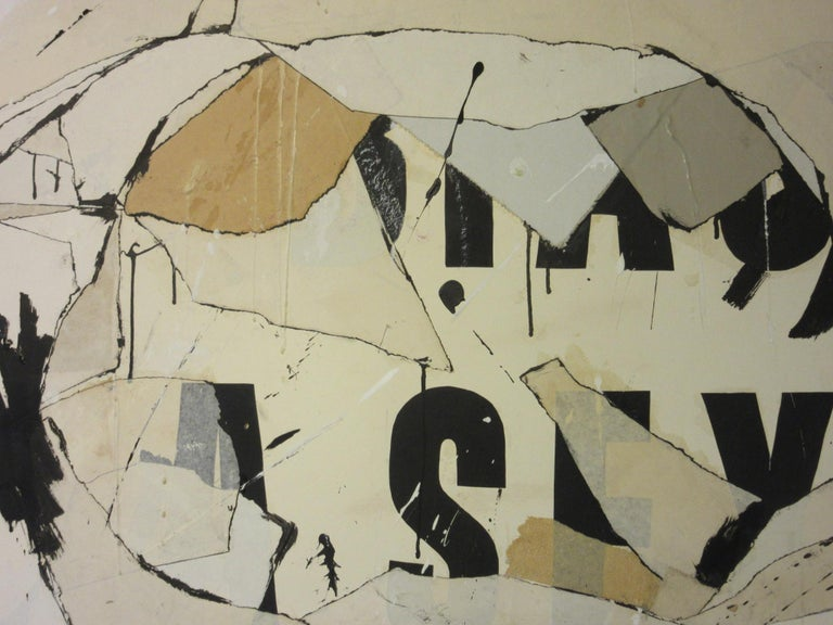 American Large Vintage 1960s Contemporary Painting by Female Artist Jeri Summers For Sale