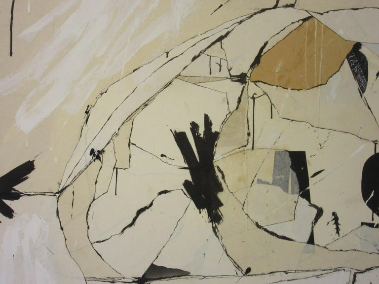 Large Vintage 1960s Contemporary Painting by Female Artist Jeri Summers In Good Condition For Sale In Cincinnati, OH