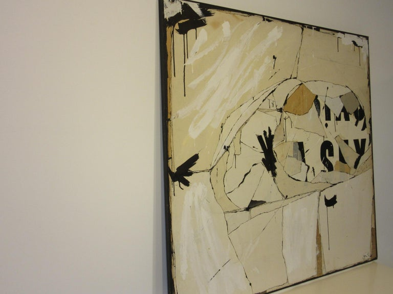 20th Century Large Vintage 1960s Contemporary Painting by Female Artist Jeri Summers For Sale
