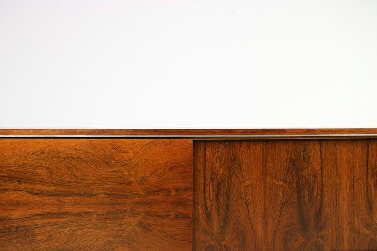 Large Vintage 1960s Sideboard Credenza, Belgium, Reversible Doors, Metal Base 7