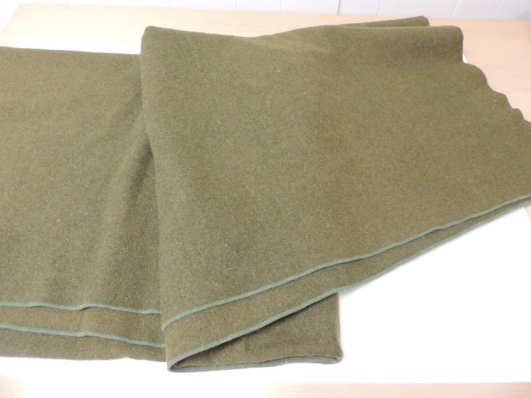 Large Vintage Army Wool Camping Blanket For Sale At 1stdibs
