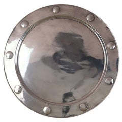 Large Vintage Art Deco Pewter Tray Off the S.S. Orania, circa 1920
