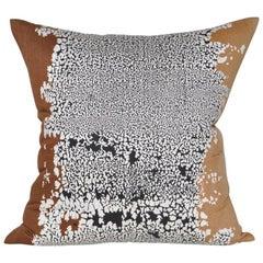 Large Vintage Artist Edmond Bacci Italian Fabric Backed in Irish Linen Pillow