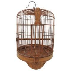 Large Vintage Asian Round Birdcage
