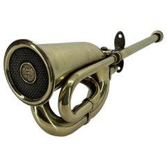 Large Vintage Automobile Heavy Brass Car Horn