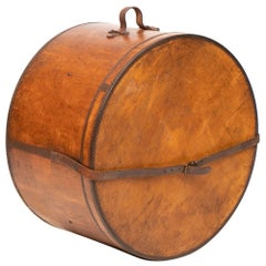 Large Vintage Bentwood Hat Box
