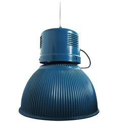 Large Vintage Blue Lamp