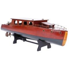 Large Vintage Boat Model