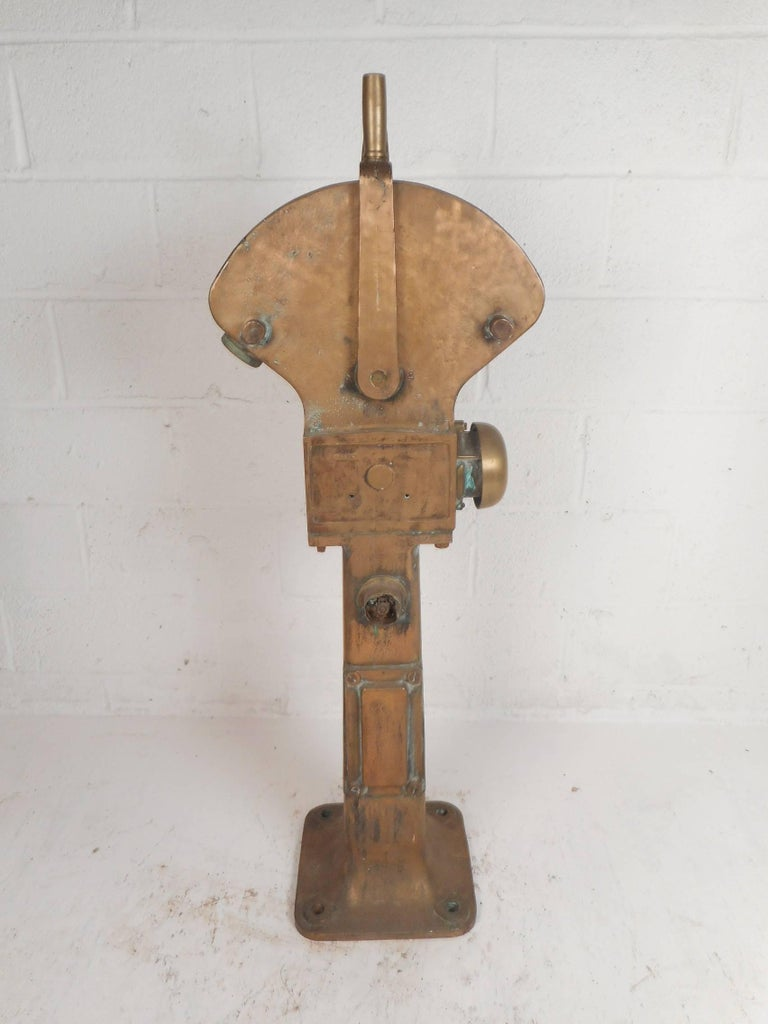 English Large Vintage Brass Telegraph by Siemens Brothers and Co. For Sale