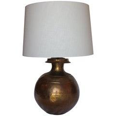 Large Vintage Brass Urn Lamp