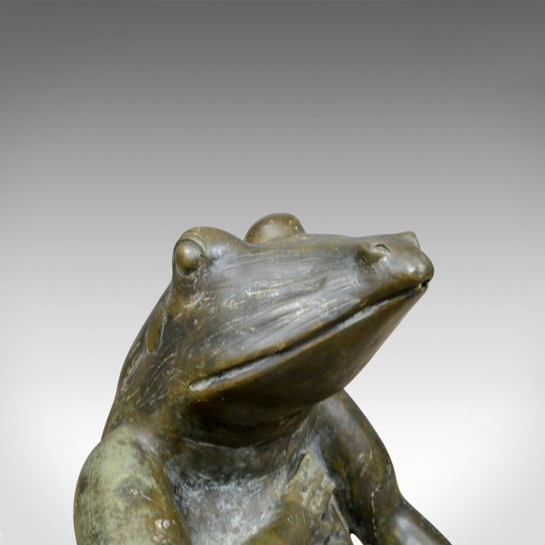 Large, Vintage, Bronze, Water Feature, Decorative Garden Ornament 20th Century In Good Condition For Sale In Taunton, GB