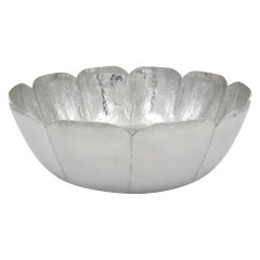 Large Vintage Cartier Centerpiece Bowl Handcrafted in Polished Pewter