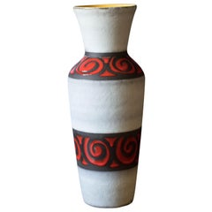 Large Vintage Ceramic German Pottery Vase by Bay Keramik